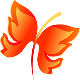 Abstract fire butterfly. For your design Royalty Free Stock Images