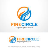 Abstract Fire Circle Logo Template Design Vector, Emblem, Design Concept, Creative Symbol, Icon. This design suitable for logo or icon Royalty Free Stock Photo