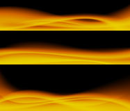 Abstract fire design. Abstract fire design in black background Stock Images