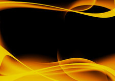 Abstract fire design. Abstract fire design in black background Royalty Free Stock Photo