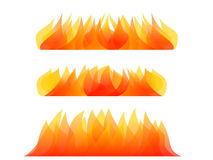 Abstract fire element isolated on white vector. Element Royalty Free Stock Photography