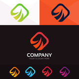 Abstract fire energy logo company sign icon vector design Stock Photos