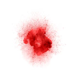 Abstract fire explosion, red color with sparks. Isolated on white background Stock Photography