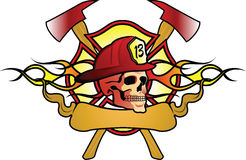 Abstract fire fighter design. Stock Photography