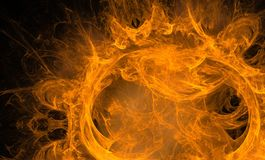 Abstract Fire Figure. Royalty Free Stock Photography