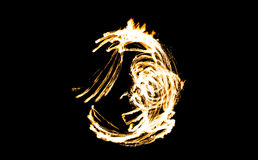 Abstract fire figure burning outdoor Royalty Free Stock Photos