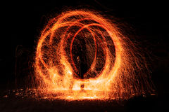 Abstract fire figure burning outdoor Royalty Free Stock Photography