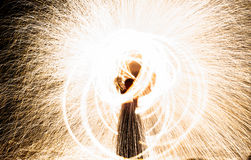Abstract fire figure burning outdoor Royalty Free Stock Photo