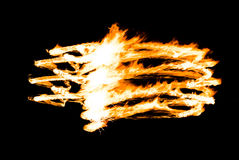 Abstract fire figure burning outdoor Stock Image