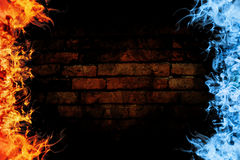 Abstract fire flame background Royalty Free Stock Photo