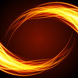 Abstract fire flame light on black background  illustration. Burning flames translucent elements special Effect Stock Photo
