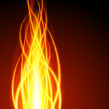 Abstract fire flame light on black background  illustration. Burning flames translucent elements special glowing effect Royalty Free Stock Photography