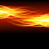 Abstract fire flame light on black background  illustration. Burning flames translucent elements special glowing effect Royalty Free Stock Images