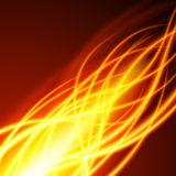 Abstract fire flame light on black background  illustration. Burning flames translucent elements special glowing effect Stock Photos