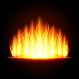 Abstract fire flame light on black background  illustration. Burning flames translucent elements special glowing effect Royalty Free Stock Image