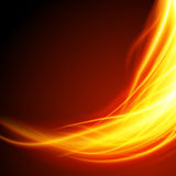 Abstract fire flame light on black background  illustration. Burning flames translucent elements special glowing effect Stock Photography