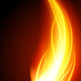 Abstract fire flame light on black background  illustration. Burning flames translucent elements special glowing effect Royalty Free Stock Photo