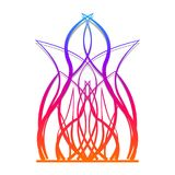 Abstract fire flame for print. Vibrant colors.Element of design.Ornament Stock Photo