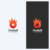 Abstract Fire, Flame Shape Logo Design Template. Corporate Business Theme. Energy, Power Concept. Simple and Clean Style. Royalty Free Stock Photo