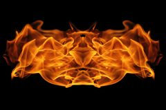 Abstract Fire flames on black background. The abstract Fire flames on black background Stock Image