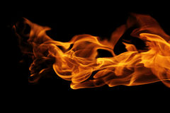 Abstract fire flames on black background Royalty Free Stock Image