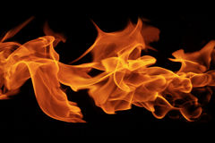 Fire flames on black background. Abstract Fire flames on black background stock images