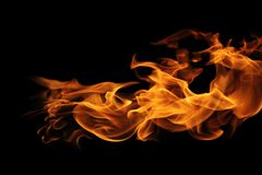 Abstract Fire flames on black background. The abstract Fire flames on black background Royalty Free Stock Photos