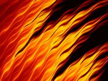 Abstract fire flames on black background. Bright fiery texture. Fractal art Stock Photos