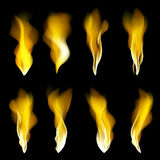 Abstract fire flames on a black background. Colorful vector illustration eps10. Abstract fire flames black background. Colorful vector illustration eps10 art Royalty Free Stock Images