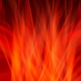 Abstract fire flames on a black background. Stock Photography