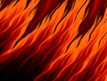 Abstract fire flames on black background. Flame tongue. Vivid fiery pattern. Fractal art Royalty Free Stock Photo