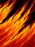 Abstract fire flames on black background. Flame tongue. Vivid fiery pattern. Fractal art Stock Photo
