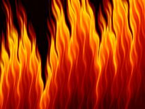 Abstract fire flames on black background. Flame tongue Royalty Free Stock Photos