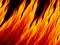 Abstract fire flames on black background. Flame tongue. Vivid fiery pattern. Fractal art Royalty Free Stock Photos