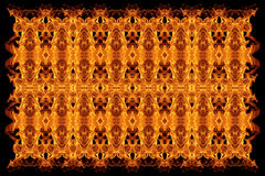 Abstract fire flames seamless pattern background Stock Photography