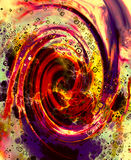 Abstract fire flames and spiral effecton on color background. Royalty Free Stock Photography