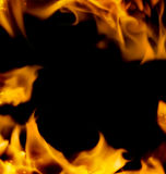 Abstract fire frame Royalty Free Stock Photo