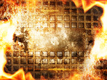 Abstract fire frame. Picture of an Abstract grunge texture vector illustration