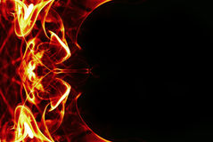 Abstract fire frame Stock Images