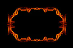 Abstract fire frame. On a black background Royalty Free Stock Photo