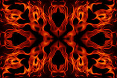 Abstract fire frame. On a black background Royalty Free Stock Image