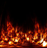 Abstract fire in the furnace Stock Photos