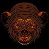 Abstract fire head monkey patterns Royalty Free Stock Photography