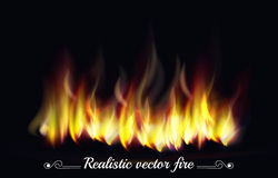 Abstract fire on horizontal position Royalty Free Stock Photo