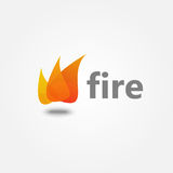 Abstract fire icon. Abstract fire icon with white background,  illustration Royalty Free Stock Image