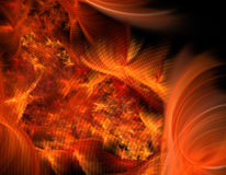 Abstract fire illustration. Billowing abstract fire fractal illustration Stock Photos