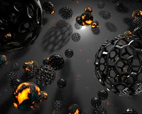 Abstract fire planets balls Stock Images