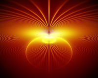Abstract fire rays. And sphere Stock Images