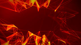 Abstract Fire red Geometrical Background ..Futuristic technology style. Neon Sign . HUD Element . Elegant . Big data Royalty Free Stock Photo