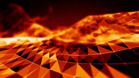 Abstract Fire red Geometrical Background ..Futuristic technology style. Neon Sign . HUD Element . Elegant . Big data Stock Images